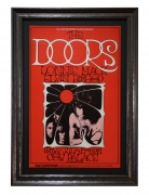 BG 186  Original 1969 Concert Poster for the Doors at the Cow Palace near San Francisco by Randy Tuten. Red poster features a photo of the band and Jim Morrison