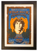Poster by Carson Morris Studios for 1968 Northern California Folk-Rock Festival at Santa Clara County Fairgrounds featuring The Doors