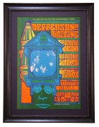 BG-81 Poster by Jim Blashfield for Jefferson Airplane, Grateful Dead, Big Brother & the Holding Company -  Bill Graham brings the San Francisco Scene to Hollywood