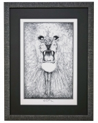 Pen and Ink Sketch of the Santana Lion by Lee Conklin - from BG-134 poster