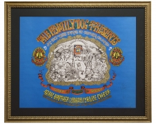 FD-79 also FDD-1 this 1967 poster by Rick Griffin advertises the opening of the Denver Family Dog Operation with headliners Big Brother and the Holding Company and many familiar advertising icons from the period