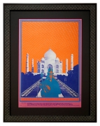 FD-74 poster picturing the Taj Mahal and featuring Charles Lloyd Quartet and West Coast Natural Gas Co. Aug 3-6, 1967 by Bob Fried