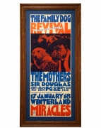 FDW-002  Mothers of Invention Poster from 1969 at Winterland by San Andreas Fault, aka, Tad Hunter also featuring 2 dogs and the Sir Douglas Quintet