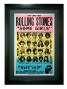 "Poster for Rolling Stones Some Girls album, 1978 by Peter Corriston. An in-store record promotion for ""Some Girls"""