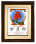 AOR 4.85 poster for Bread and Roses Festival, 1979, Greek Theatre by Stanley Mouse
