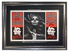 BG-196  Joe Cocker poster 1969, by Randy Tuten and David Singer also featuring Little Richard and The Move, October 16-19, 1969 at the Fillmore West