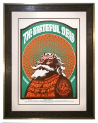 FD-40 Original 1966 Grateful Dead poster by Victor Moscoso depicting Satanic Santa Claus. Also known as Hippie Santa Claus this poster also featured Moby Grape December 23-24, 1966.