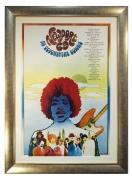 Poster for Newport Pop Festival 1969 at Devonshire Downs in Northridge CA. Large Jimi Hendrix Poster 1969