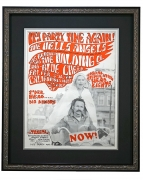 """AOR 2.248  Hells Angels 1967 Poster for concert party with Big Brother & the Holding Company and Blue Cheer by Allen """"Gut"""" Terk at California Hall, San Francisco February 3, 1967 poster"""