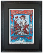 FD-26 Skeleton and Roses Grateful Dead poster by Stanley Mouse and Alton Kelley at the Avalon, 1966. Also called Skull and Roses.