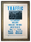 BG-111 poster from 1968 for the band called traffic by Stanley Mouse and Alton Kelley. HP Lovecraft poster.