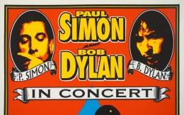 Bob Dylan and Paul Simon framed poster Portland 1999 by Mark Arminski