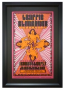 Concert poster from Fillmore East featuring Traffic, Blue Cheer and Iron Butterfly, 1968 by artist David Byrd
