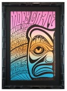 BG-56 poster with Pacific Northwest Totem Pole Theme. Fillmore Moby Grape poster with The Charlatans and The Chambers Brothers 1967