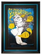 BG-121 Yardbirds poster from 1968 at the Fillmore West. Concert poster dated May 23-25, 1968 by Lee Conklin