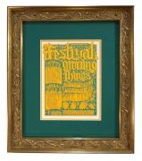 Handbill for the 1967 Festival of Growing Things July 1-2 1967 at Mt. Tam Amphitheater. Handbill artwork by Gut