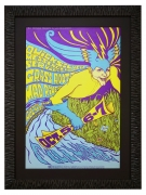 BG-87 Quicksilver Messenger Service Poster by Bonnie MacLean October 5-7, 1967 also featuring Grass Roots and Mad River