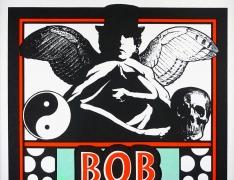 Bob Dylan at Monmouth University Poster 1997 by Mark Arminski - detail