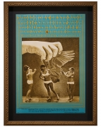 FD-75 poster by Victor Moscoso featuring Moby Grape Canned Heat Vanilla Fudge at Avalon Ballroom August 10-13 1967