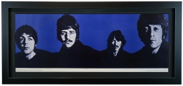 The Beatles Mount Rushmore: Black & White Poster for Look Magazine by Richard Avedon 1967