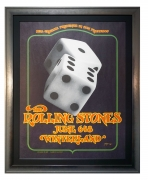 BG-289 Rolling Stones poster 1972 by David Singer. Concert poster from Winterland, San Francisco June 6,8 1972