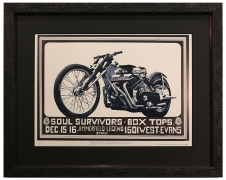 FDD-15 poster from Denver Dog, Soul Survivors and Box Tops poster 1967 - Silver Motorcycle poster 1967