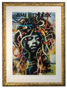 AOR 3.185 Jimi Hendrix Silkscreen poster called Medusa by Gunther Kieser. Third Artrock printing singed and numbered