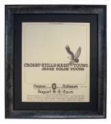 Original concert poster for CSNY at Nassau Coliseum August 14, 1974 by Randy Tuten, Crosby Still Nash & Young 1974 poster