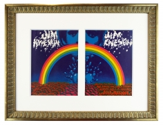 1967 Jim Kweskin Rainbow handbills by Rick Griffin and Victor Moscoso