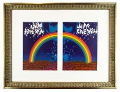 1967 Jim Kweskin Rainbow handbills by Rick Griffin and Victor Moscoso