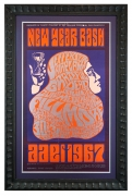 BG-37 Poster. New Years 1966-1967 Grateful Dead poster with Jefferson Airplane and Quicksilver Messenger Service at Fillmore