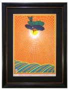 FD-83 Poster Icarus by Bob Fried for The Charlatans and Buddy Guy concert at Avalon Ballroom, September 22, 1967