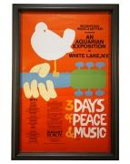 Original Woodstock poster by Arnold Skolnik, 1969
