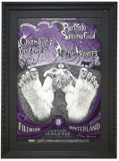 BG-122 Poster by Lee Conklin for Fillmore and Winterland concert with The Chambers Brothers, Buffalo Springfield and Richie Havens May 29-June 1, 1968
