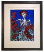 Grateful Dead poster - Stanley Mouse Skeleton & Roses silkscreen print 1998  Skull and Roses serigraph silkscreen