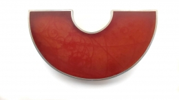 Brooch - Bubble Chamber Red