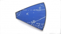 Brooch - Particle Shower, Etched Blueprint #1