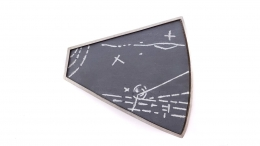 Ann Parkin, Brooch - Particle Shower, Etched Gray #2
