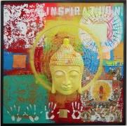 "Buddha 3D - Mixed Media - 47 x 47"""