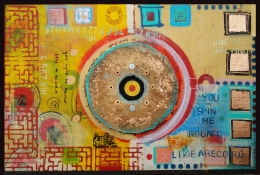 Elisa Lejuez | You spin me round - Mixed Media - 59 x 39""