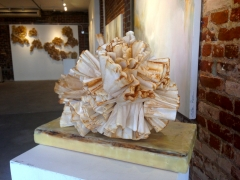 Coffee filters sculpture