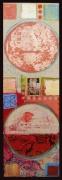 """Elisa Lejuez   For Klimt - Mixed Media - 59 x 20"""""""