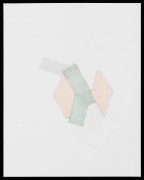 Richard Rezac.Study for Limb (Harlequin Pattern), 2020. Graphite and Colored Pencil on Grid Paper. Image Dimensions: 29 x 23 inches.