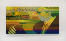 Ed Paschke, Buenuto, 1983. Oil on linen, 42 x 80 inches.