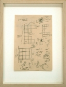 Sol Lewitt.Untitled,1966. Ink and pencil on paper, 13 x 9.75 inches, framed.