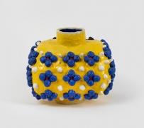 Variations on a Square (Yellow, Blue, Black), 2020, Glazed ceramic