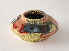 NATALIE FRANK,Eye, 2021,Underglazed and glazed ceramic, 5 x 5 x 5 inches