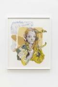 Natalie Frank. Woman, Hair Eater I, 2019. Linen pulp on cotton base sheet.