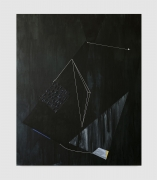 Torkwase Dyson.Presence, Takes Courage for a Body to Get Down There, 2020. Acrylic and graphite on canvas