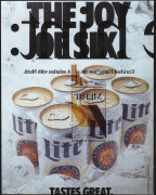 """Robert Heinecken/The Joy of Six (from """"Whiskey and Cigarettes"""")/1990/Silver dye bleach print"""